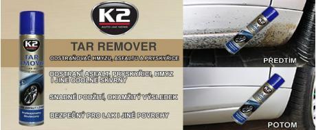 K2 TAR REMOVER 300 ml - odstraňovač hmyzu, asfaltu a pryskyřice