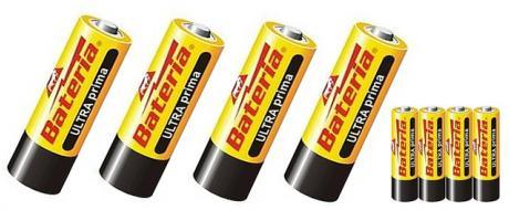 Tužkové baterie AAA - balení 4ks