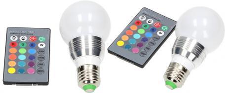 LED RGB žárovka 3W na ovládání