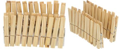 Kolíček dřevěný 20 kusů Klasik