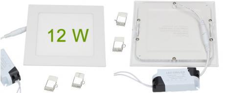 LED stropní panel zápustný 12W čtverec