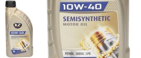 K2 Motorový olej polosyntetický 10W-40 1l