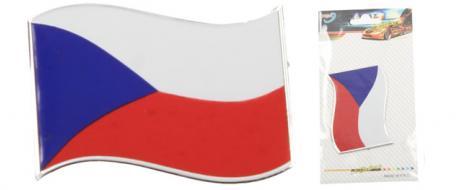 Kovová samolepka Vlajka ČR 8cm x 5,5cm