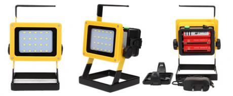 Přenosný nabíjecí LED reflektor 10W 20 cree LED