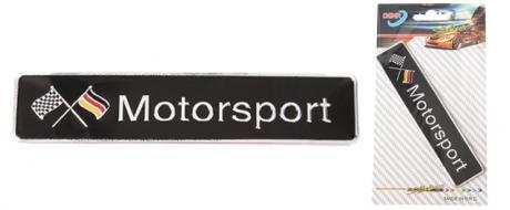 Kovová samolepka Motorsport