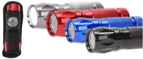 Kovová LED svítilna s kompasem