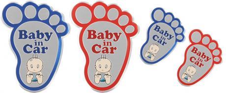 Kvalitní samolepka z hliníku Baby In Car ťápota