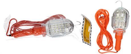 Přenosná elektrická lampa s hákem