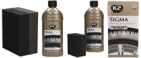 K2 SIGMA 500 ml - ochrana a obnova pryžových částí automobilu