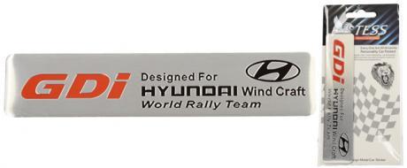 Kovová samolepka GDi Hyundai World Rally Team