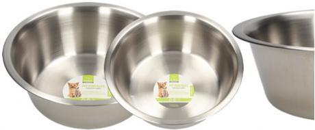 Kulatá nerezová miska pro psy 21 cm