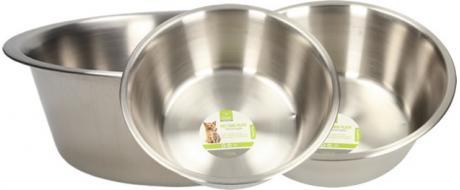 Kulatá nerezová miska pro psy 23,5 cm