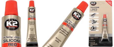 K2 SILICONE RED 21 g - silikon pro utěsnění části motoru