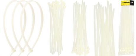 Stahovací pásky bílé 5 x 400 mm 30 kusů