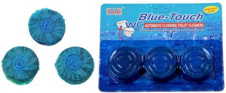 Blue Touch tableta do WC nádržky 3 kusy