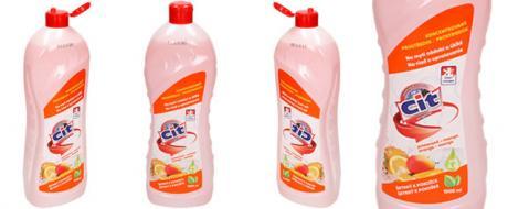 CIT tekutý prostředek na nádobí 1 L pomeranč a mango