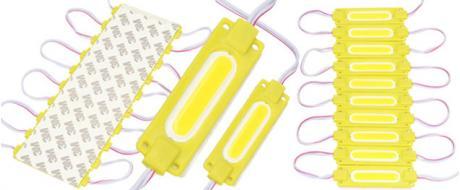 Nalepovací silná oválná LED dioda žlutá