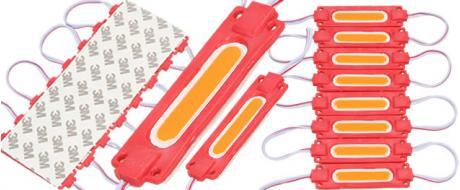 Nalepovací silná oválná LED dioda červená