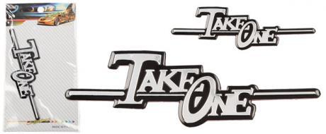 Kovová samolepka Take One 11,5 cm x 4 cm
