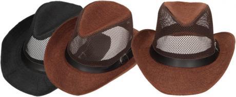 Letní klobouk s děrováním a páskem