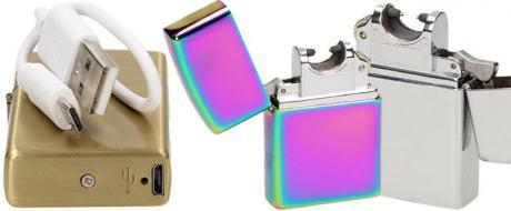 Vyklápěcí plazmový zapalovač s USB nabíjením