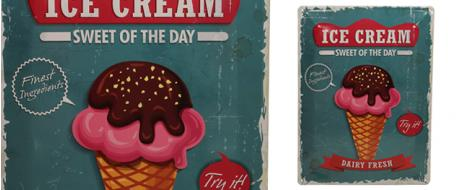 Plechová cedule Ice Cream sweet of the day (30x39,5 cm)