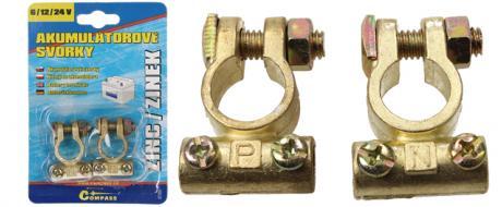 Akumulátorové svorky zinkové 2ks
