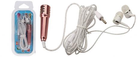 Mini karaoke mikrofon se sluchátky