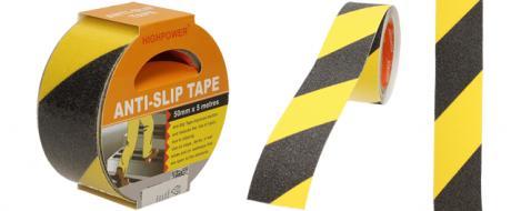 Protiskluzová páska černo-žlutá 5m