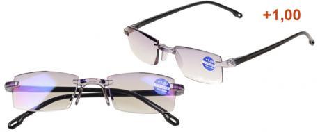 Dioptrické brýle s antireflexní vrstvou černé +1,00
