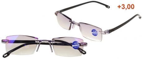 Dioptrické brýle s antireflexní vrstvou černé +3,00