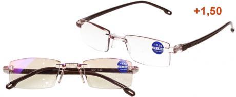 Dioptrické brýle s antireflexní vrstvou hnědé +1,50