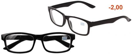 Dioptrické brýle pro krátkozrakost -2,00 černé