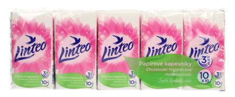 Papírové kapesníky Linteo 3vrstvé 10x10