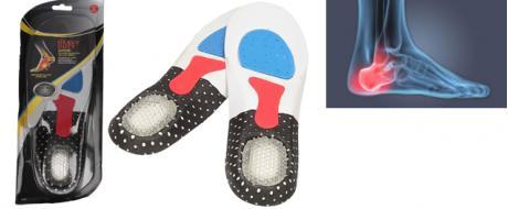 Vložky do bot se silikonovou podložkou paty dámské