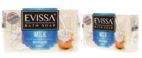 Evissa mýdlo na obličej i tělo milk 150g