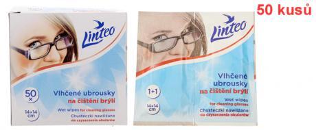 Linteo vlhčené ubrousky na brýle 50 ks