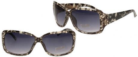 Sluneční brýle kytkované černo-bílé 9330