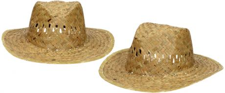 Slaměný kovbojský klobouk bez pásku