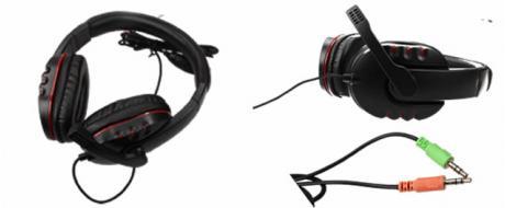 Kabelová herní sluchátka s mikrofonem