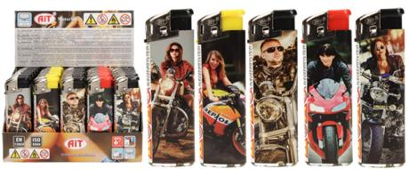 Sada zapalovačů s motorkáři 50 ks