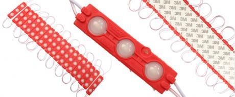 Nalepovací silná tříbodová LED dioda červená