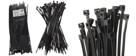 Stahovací pásky černé 4,8 x 250 mm, 100 kusů