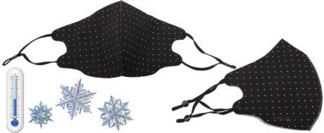 Zimní rouška černá s puntíky