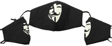 Rouška anonymous fosforeskující