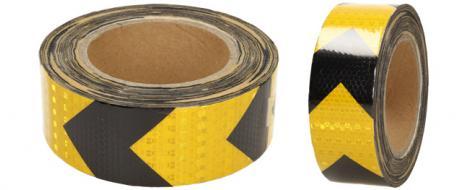 Reflexní lepící páska šipky žlutá-černá