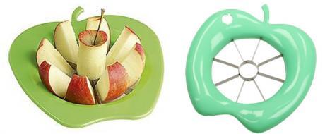 Kráječ na jablka ve tvaru jablka