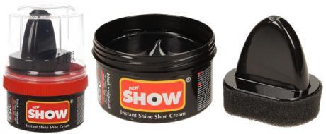 SHOW krém na boty s aplikační houbičkou 50 g- černá