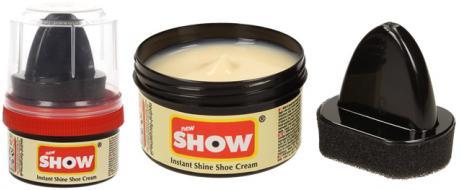 SHOW krém na boty s aplikační houbičkou 50 g- neutrální