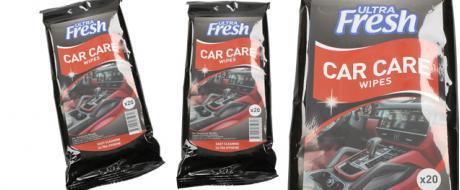 Ultra Fresh vlhčené čistící ubrousky do auta
